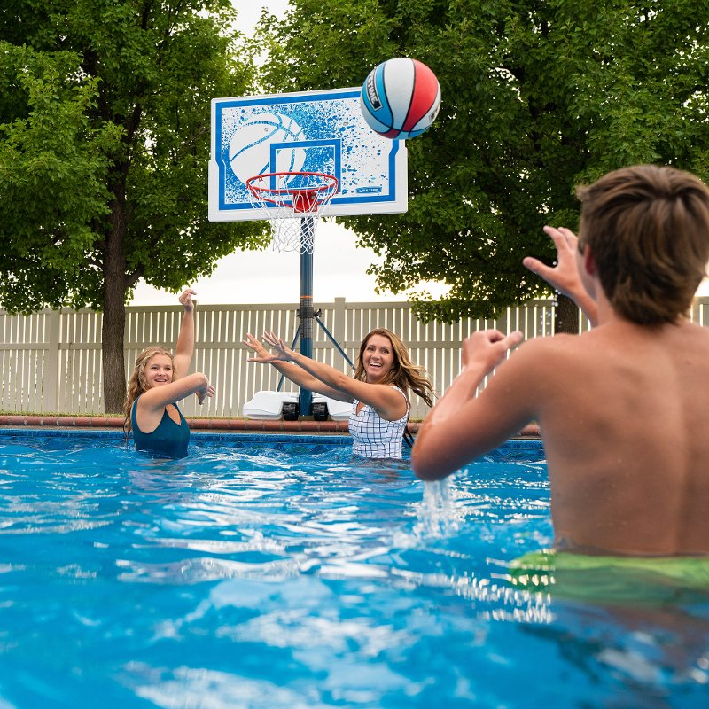 Lifetime Products Swimming Pool Portable Basketball Hoop