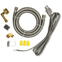 Dishwasher Install Kit with wirenuts, cord clamp and hose clamp