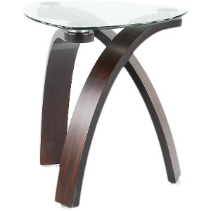 Lovely ... Magnussen Modern Glass End Table   Allure