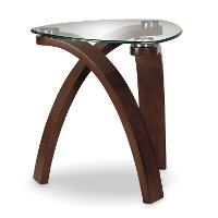 Modern Glass End Table - Allure