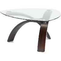 Magnussen Modern Glass Coffee Table - Allure