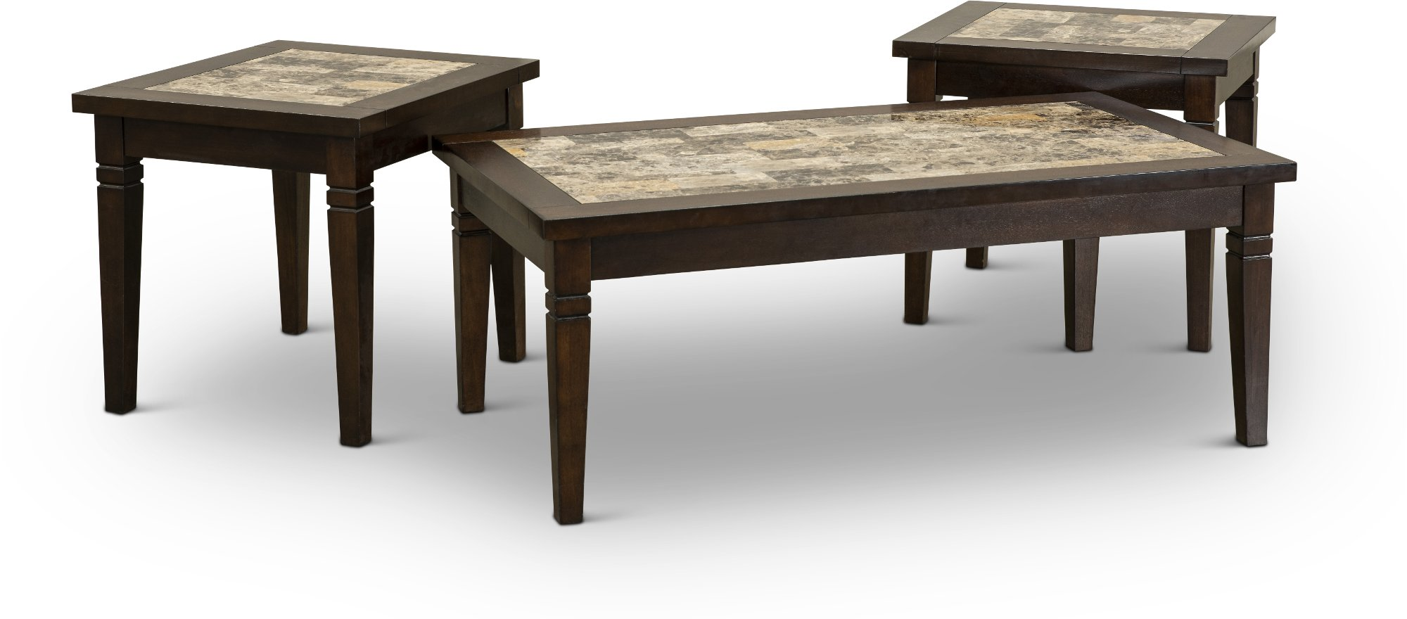 Casual contemporary chocolate brown 7 piece room group for Table design using jsp