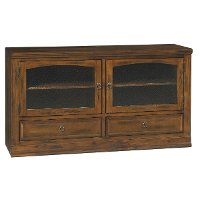 63 Inch Distressed Chocolate Brown TV Stand - Santa Fe