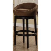 Brown Swivel Counter Stool (26 Inch) - Igloo