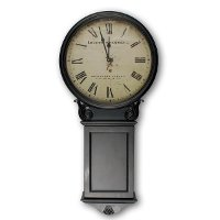 WM-12278-LIVERPOOL Antique Black Wall Clock