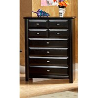 Contemporary Black Chest of Drawers - Laguna