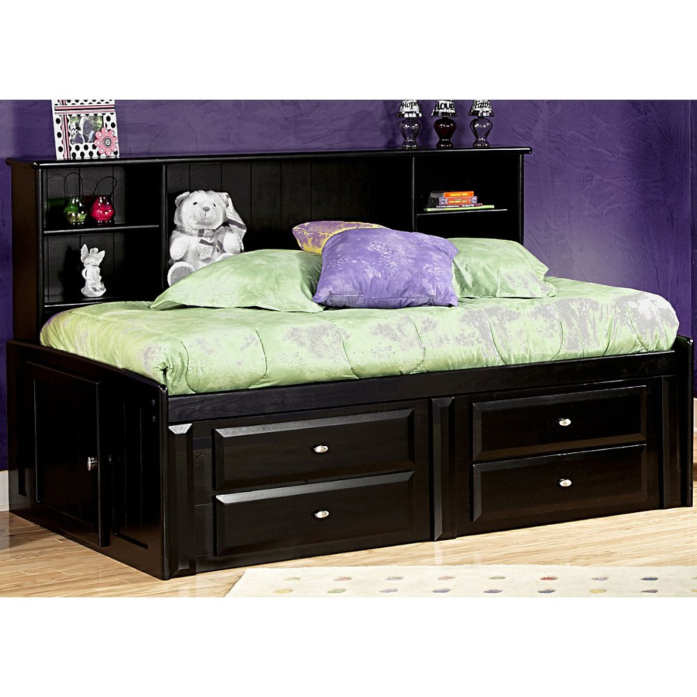 Black twin contemporary roomsaver storage bed laguna Black twin bed