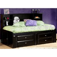 Black Full Contemporary RoomSaver Storage Bed - Laguna