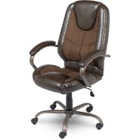 Leather Brown Office Chair - Bentwood