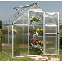HG5006-NAT6X6SLVR Poly-Tex Nature 6' x 6' Hobby Greenhouse