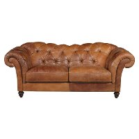 A436-009/108ATG/SO Natuzzi 92 Inch Brown Leather Sofa