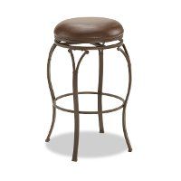 4264-828 Brown 24 Inch  Swivel Counter Stool - Lakeview