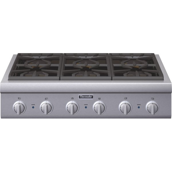 thermador t30ir800sp. pcg366g-ss-rngtop thermador 36 stainless steel range cooktop t30ir800sp