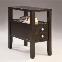 Espresso Brown Chair Side Table