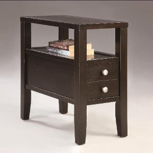 ... Espresso Brown Chair Side Table