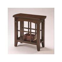 Transitional Brown Accent Table - Camino