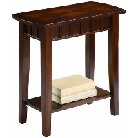 Crown Mark Dentil Espresso Brown Small Side Table