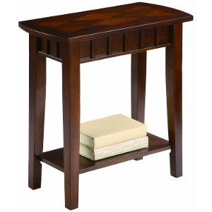 Delightful ... Crown Mark Dentil Espresso Brown Small Side Table