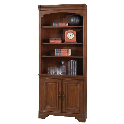 Cherry Brown 2 Door Bookcase - Richmond Collection