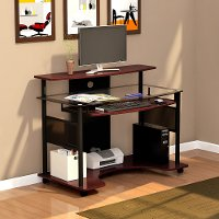 Mobile Glass Computer Desk Cyrus Rc Willey Furniture Store