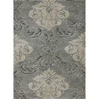 8 x 11 Large Smoke Gray and Beige Area Rug - Encore