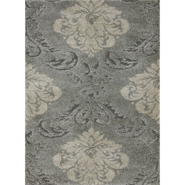 8 X 11 Large Smoke Gray And Beige Area Rug Encore