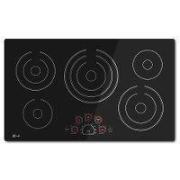 LCE3610SB LG 36 Inch Smoothtop Electric Cooktop - Black