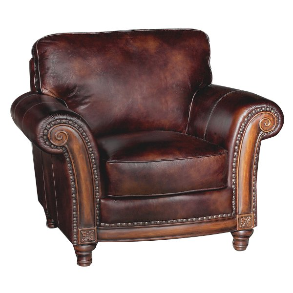 ... Classic Traditional Brown Leather Chair   Toberlone