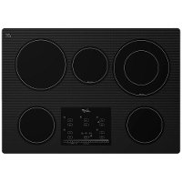 G9CE3065XB Whirlpool 30 Inch Smoothtop Electric Cooktop with 5 burners - Black
