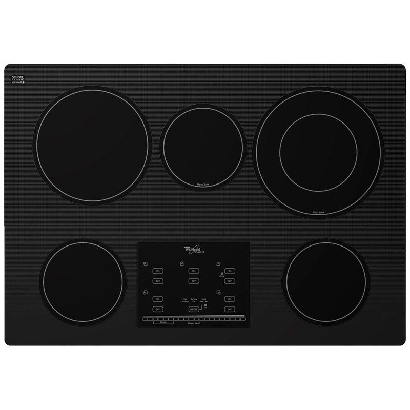 Whirlpool 30 Inch Smoothtop Electric Cooktop with 5 burners - Black