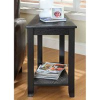 Black Narrow End Table