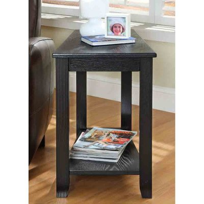 Attractive Black Narrow End Table