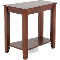 Espresso Wedge Chair Side Table
