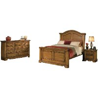 American woodcrafters 5 piece cal king bedroom set rc for American woodcrafters bedroom furniture