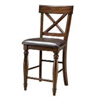 Raisin Brown 24 Inch Counter Height Stool - Kingston