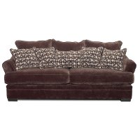 Casual Contemporary Chocolate Brown Sofa - Acropolis