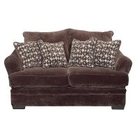 Casual Contemporary Chocolate Brown Loveseat - Acropolis