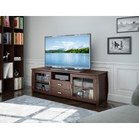 Brown Smooth 60 Inch TV Stand - Washington