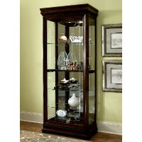 Louis Philip Brown Curio Cabinet