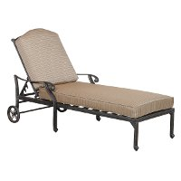 Cast Aluminum Patio Chaise Lounge with Cushion - Moab