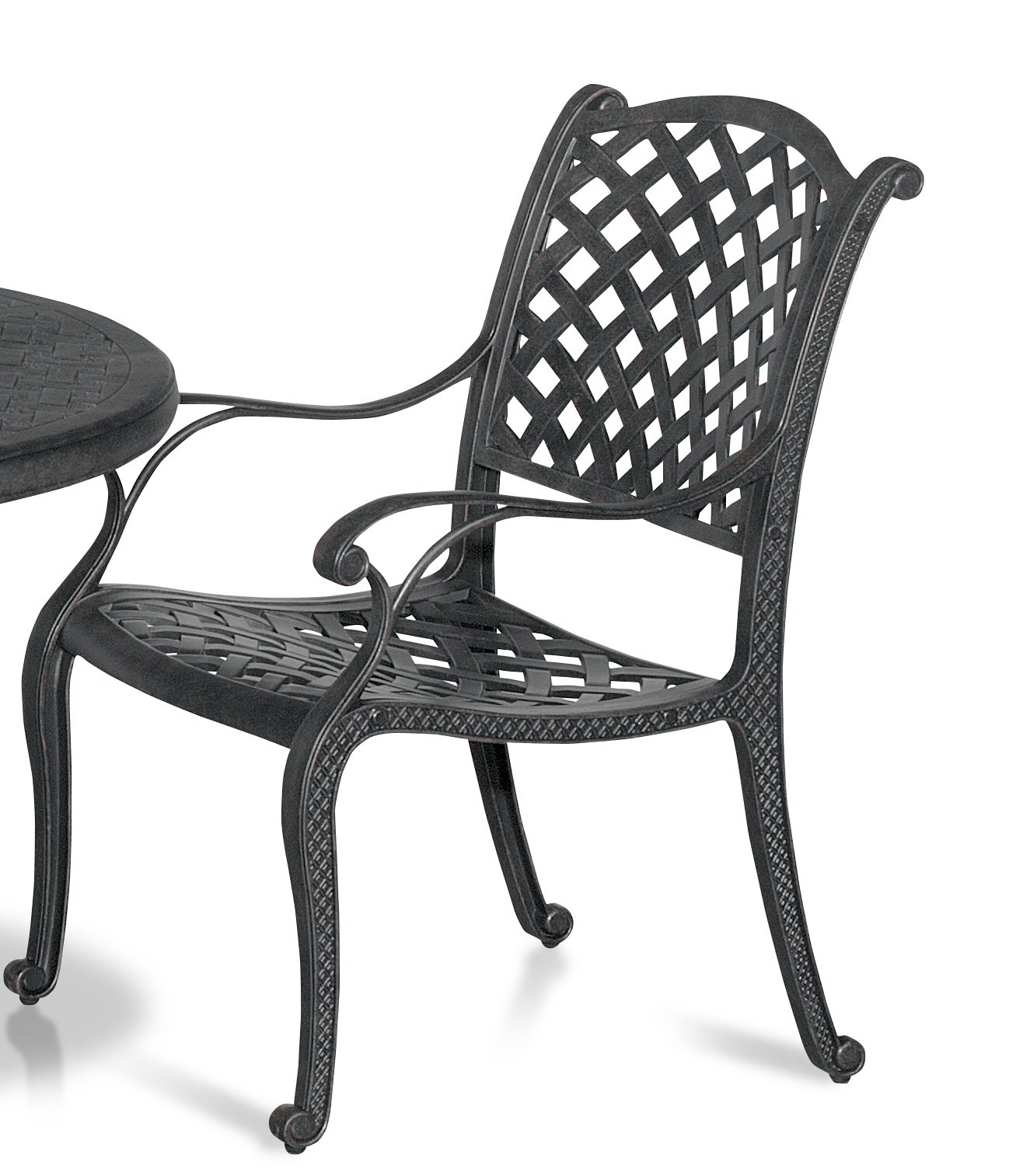 5 Piece Round Cast Patio Dining Set Moab