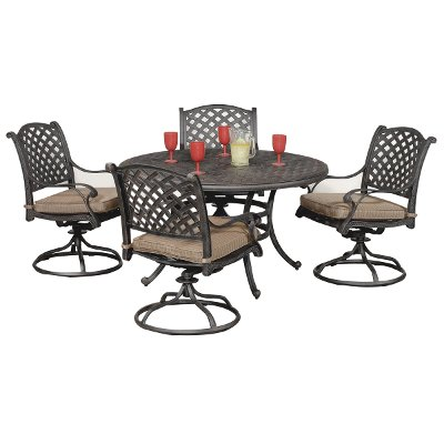 Heritage C Spring Chair27999 Moab World Source 5 Piece Patio Dining Set