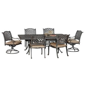 ... Moab World Source 7 Piece Patio Dining Set