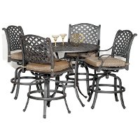 5 Piece Counter Height Outdoor Patio Set - Moab