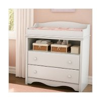 3680331 White Changing Table with Drawers - Angel