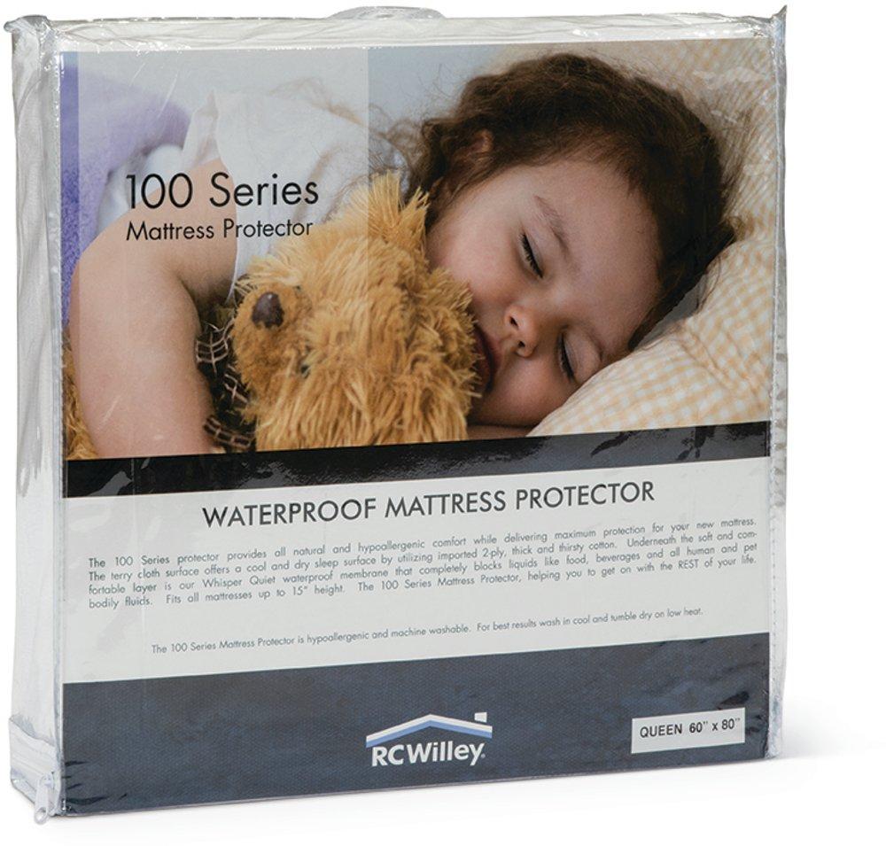 waterproof king mattress pad 100 series rc willey furniture store