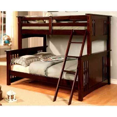 walnut twin-over-full bunk bed - spring creek | rc willey
