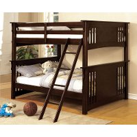 Classic Walnut Full-over-Full Bunk Bed - Spring Creek