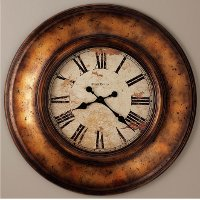 Copper Bay Aged Copper Wall Clock