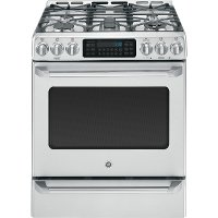 CGS985SETSS GE Cafe Series 6.4 cu. ft. Slide-in Gas Range - Stainless Steel